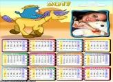 Calendário 2017 Cavalinho da Galinha Pintadinha