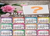 Calendário 2022 Mamãe Eu Te Amo Moldura