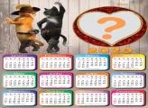 Calendário 2020 Gato de Botas Online Grátis