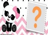 Panda Rosa Meninas Moldura