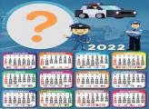 Moldura Fotos com Calendário 2022 Polícia