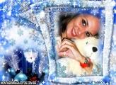 Moldura Natal Azul