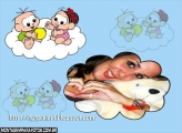Moldura Bebês nas Nuvens