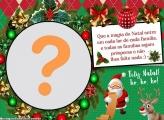 Feliz Natal Mensagem Moldura