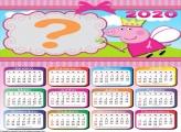 Calendário 2020 Pepa Pig Foto Colagem
