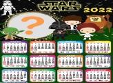 Calendário 2022 Cute Star Wars para Fotos