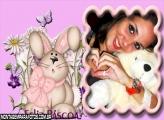 Moldura Coelha Rosinha
