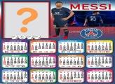 Calendário 2022 Lionel Messi PSG Colagem de Foto