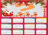 Moldura Calendário 2020 de Feliz Natal