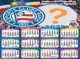 Calendário 2022 Esporte Clube Bahia Moldura de Foto