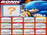 Calendário 2022 Sonic Montagem de Fotos Grátis
