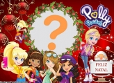 FotoMoldura Feliz Natal Polly Pocket