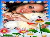 Moldura Flores e Joaninha