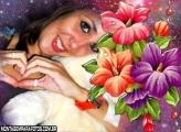 Moldura Flor Roxa