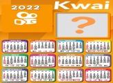 Calendário 2022 Kwai Foto Colagem