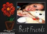 Moldura Flores para Best Friends
