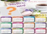 Moldura Calendário 2021 Bom dia para Mamãe