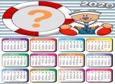Calendário 2020 Ursinho Marinheiro Emoldurar