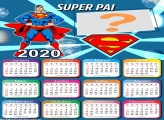Calendário 2020 Dia dos Pais Super Man