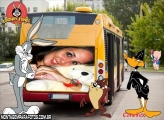 Trazeira Ônibus Looney Tunes