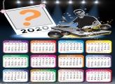 Moldura Fotos com Calendário 2020 DJ