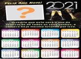 Moldura de Ano Novo Calendário 2021