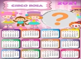 Calendário 2021 Circo Rosa para Meninas