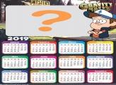 Calendário 2019 Dipper Gravity Falls