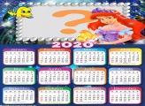 Calendário 2020 Ariel Moldura Infantil