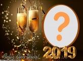 Brinde ao Ano Novo 2019 Moldura