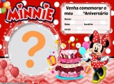 Convite da Minnie Vermelha Aniversário
