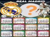 Calendário 2022 Real Madrid Editar Moldura Grátis