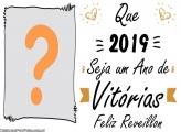Feliz Réveillon Moldura 2019