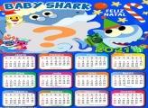 Calendário 2021 Baby Shark de Natal