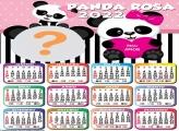 Calendário 2022 Panda Rosa Virtual Grátis