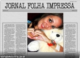 Moldura Jornal Folha Impressa