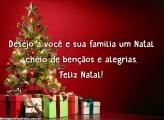 Natal cheio de bençãos e alegrias