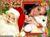 Foto Moldura Papai Noel
