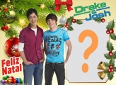 Drake e Josh Feliz Natal Montagem de Foto