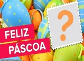 Feliz Páscoa Ovos Coloridos