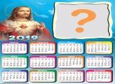 Calendário 2019 Jesus Colagem de Foto