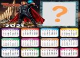 Calendário 2021 Thor para Fazer Colagem