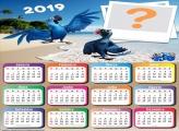 Calendário 2019 Filme Rio Araras