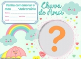 Convite Chuva De Amor com Foto