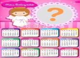 Colagem Calendário 2021 Meu Batizado Rosa
