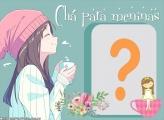 Chá para Meninas Foto Moldura Digital