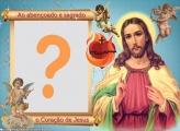 Sagrado Coração de Jesus Foto Moldura