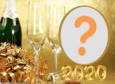 Moldura de Comemoração Feliz 2020