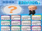 Calendário 2022 Poderoso Chefinho Moldura Online