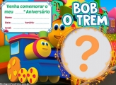 Convite Bob o Trem